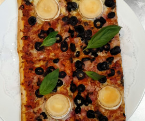 1/2 pizza 4 raciones